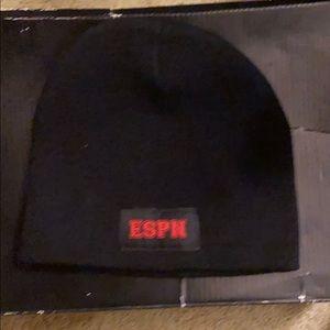ESPN winter beanie hat. Black color